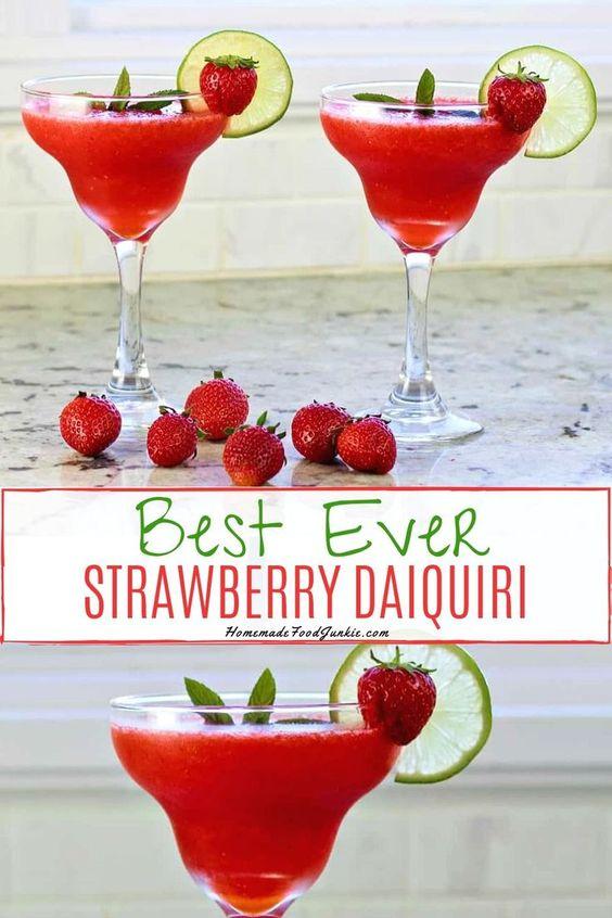 Strawberry Daiquiri Recipe with Malibu Coconut Rum