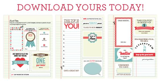 lunch notes printables