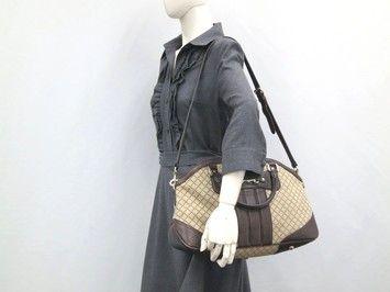 Gucci Auth Shopper Diamante Shoulder Bag