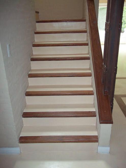 Escalera en cemento alisado buscar con google for Modelos de gradas de madera