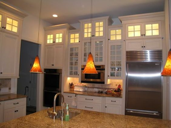 Pinterest the world s catalog of ideas for Kitchen cabinets for 7 foot ceilings
