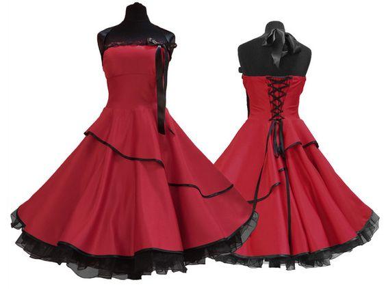 Wunderschönes  Petticoat-Kleid im Stil  der 50er  nach Ihren eigenen Maßen gefertigt.  Super als Konfirmationskleid, für den Abiball ,für die Brautjungfer oder für alle Frauen, die ein...