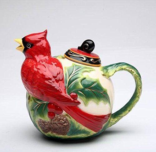 Cosmos Gifts Holiday/Seasonal Ceramic Cardinal Teapot, 5-... https://www.amazon.com/dp/B008JLLE1Q/ref=cm_sw_r_pi_dp_x_Sa70zbVBK7KVN