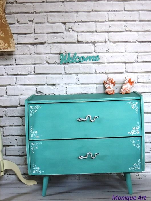 Turkusowa Szafka Na Buty Prl Oryginalne Uchwyty Pakamera Pl Home Decor Furniture Decor