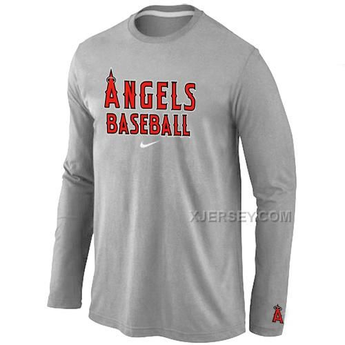 http://www.xjersey.com/los-angeles-angels-long-sleeve-t-shirt-grey.html Only$30.00 LOS ANGELES ANGELS LONG SLEEVE T SHIRT GREY #Free #Shipping!