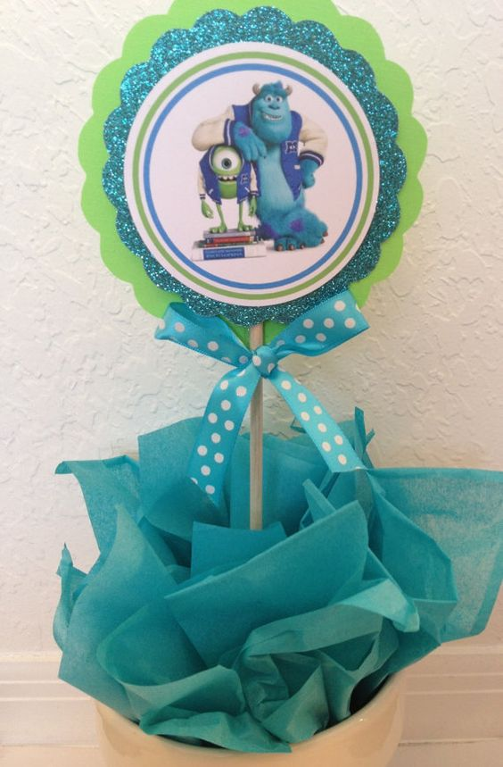 Monster university centerpieces Monsters by karlaspartycreations