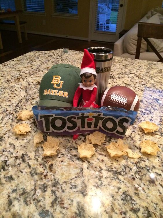 """""""Woke up this morning and our elf on the shelf is celebrating #Baylor football's trip to the Fiesta Bowl!"""" (via gjglasson on Twitter) #SicEm #BaylorFiesta"""
