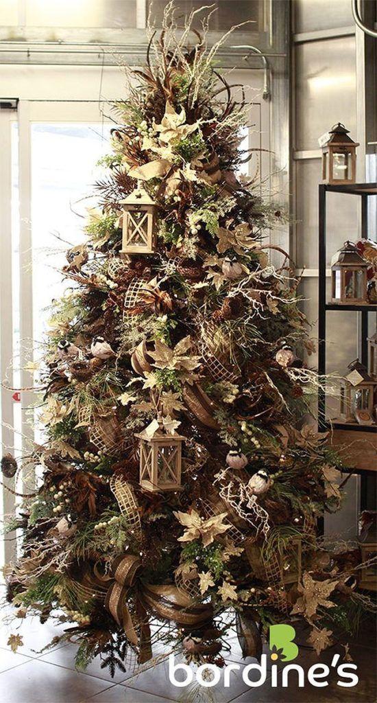 50 Beautiful Christmas Trees Tree Decor Ideas Art Home Christmas Tree Themes Rustic Christmas Tree Christmas Tree Decorations
