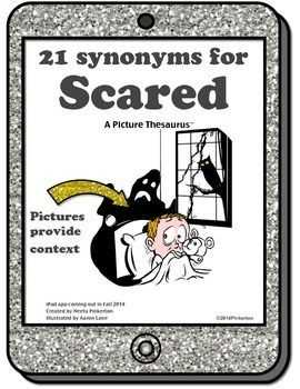 "Shades of Meaning fo""Scared"". {Picture Thesaurus with 21 s"