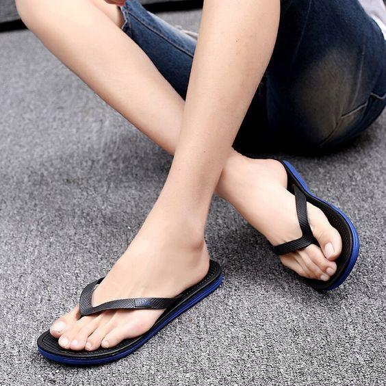 Fashion Mens Antiskid Bathroom Slipper Flip Flops Sandals Summer Beach Slipper Shoes for Indoor,Outdoor Clode Mens Slipper