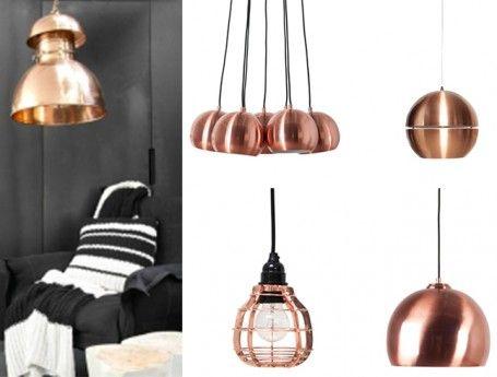 Koperen hanglamp | verschillende modellen lampen | trend lampen ...