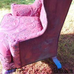 upholstery sprayed chair