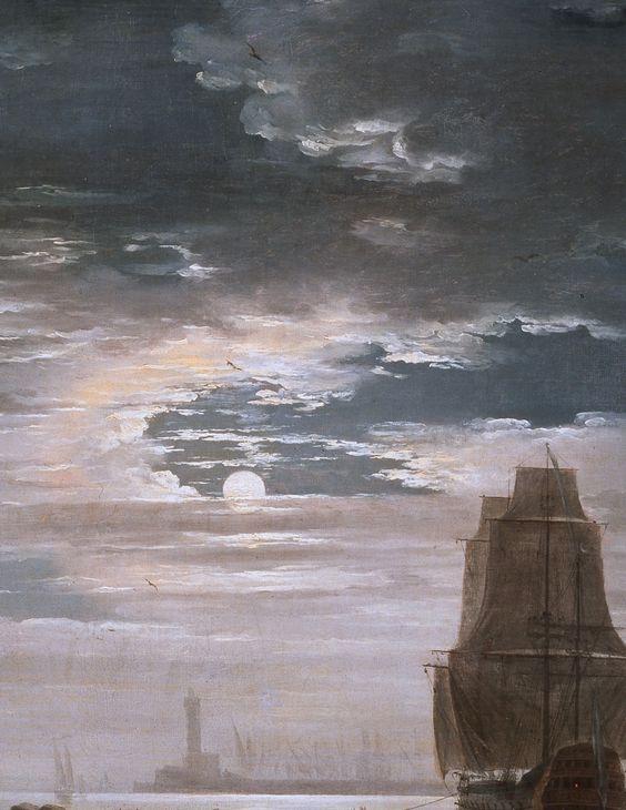 The Night. Claude Joseph Vernet. 18th century. Detail.