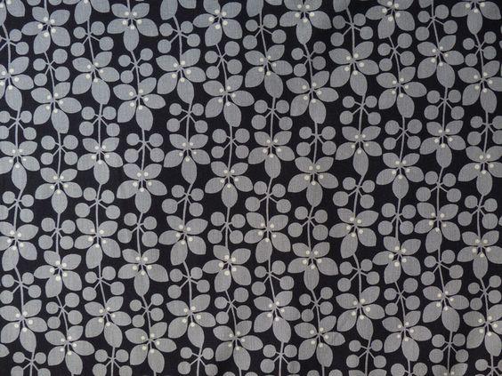 Blumenranken grau/schwarz von :: stoffbüro :: auf DaWanda.com
