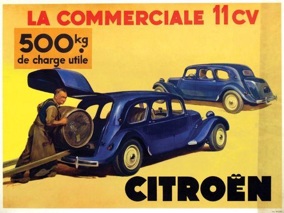 Citroën - La commerciale 11 cv. 500 kg de charge utile.