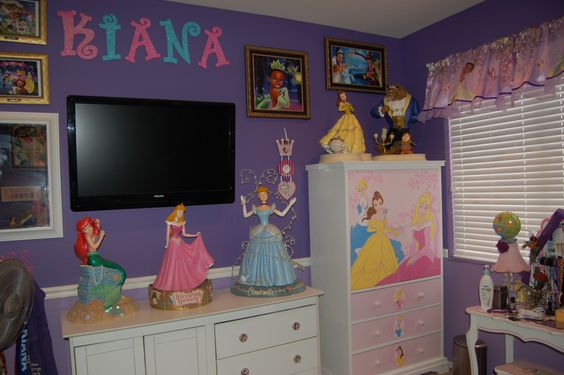 Disney Princess Bedroom; Decorating; Little Mermaid