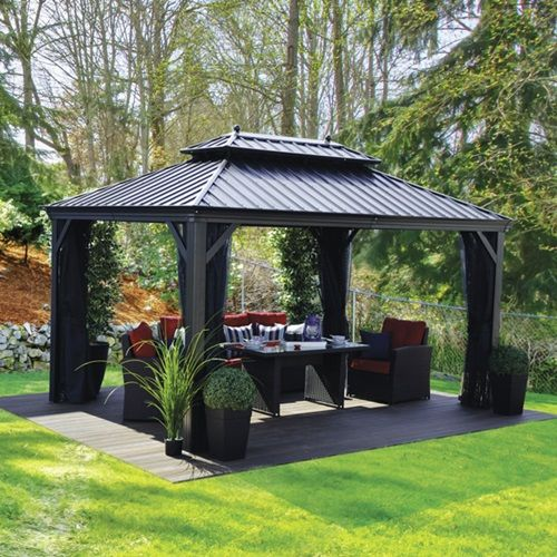Gazebo Porto 12x16 Outdoor Pergola Backyard Gazebo Patio Gazebo
