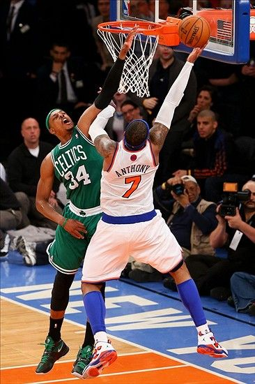 Carmelo Anthony Layups on Paul Pierce in the 1st Game in the Quarterfinals of the 2013 NBA Playoffs