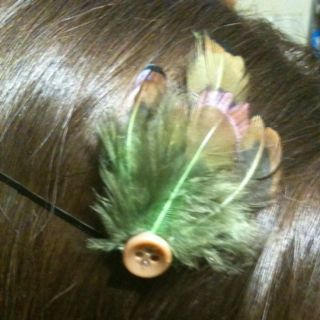 Feather bobby pin I just made!