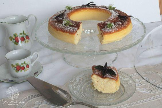 Pastel de queso estilo japonés http://www.carminaenlacocina.com/2015/10/pastel-de-queso-y-chocolate-blanco.html