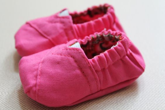 Pink Toms Inspired Baby Booties Shoes Pink by LucyGooseBoutique, $20.00