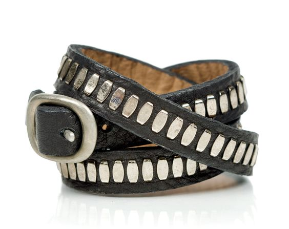 Nita Cuff by Calleen Cordero (Leather Bracelet) | Artful Home: