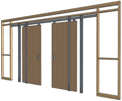 Double Door Double Pocket Door Pocket Doors Double Sliding Doors