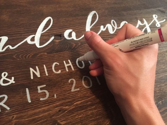 I've always love wooden wedding signs  that welcome guests to the big event. And by 'always' I mean since I discovered Pinterest… I think these signs are a perfect mix of ru…