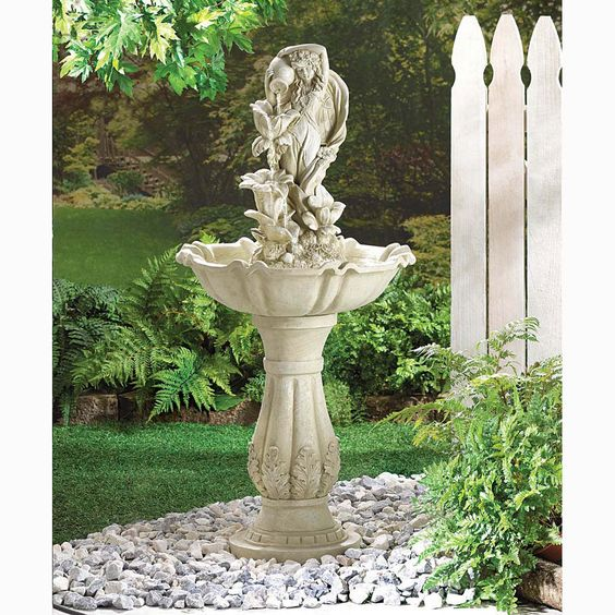 Zingz & Thingz Garden Goddess Fiberglass Fountain | YardGardenArt