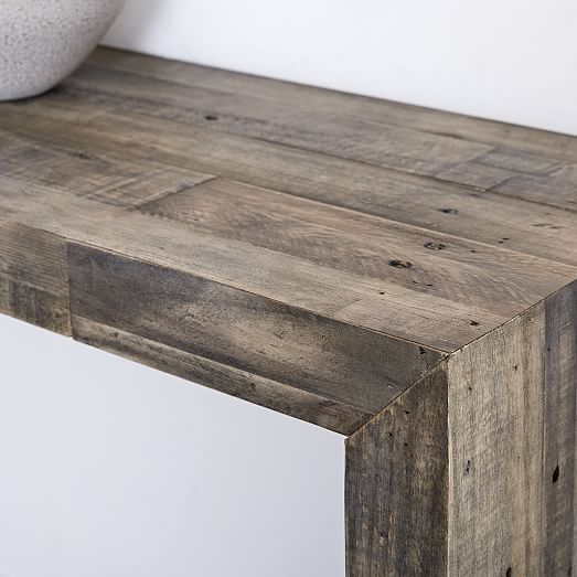 Emmerson R Reclaimed Wood Console Rustic Natural Wood Buy