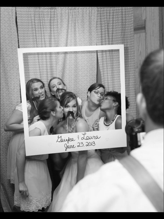bridesmaids photobooth props polaroid frame photo booth ideas pinterest the club the. Black Bedroom Furniture Sets. Home Design Ideas