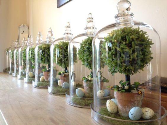 Simply gorgeous tarariums handcraftedflowers.com.au #handcraftedflowers #easter #easterbunnies #eastereggs #tarariums: