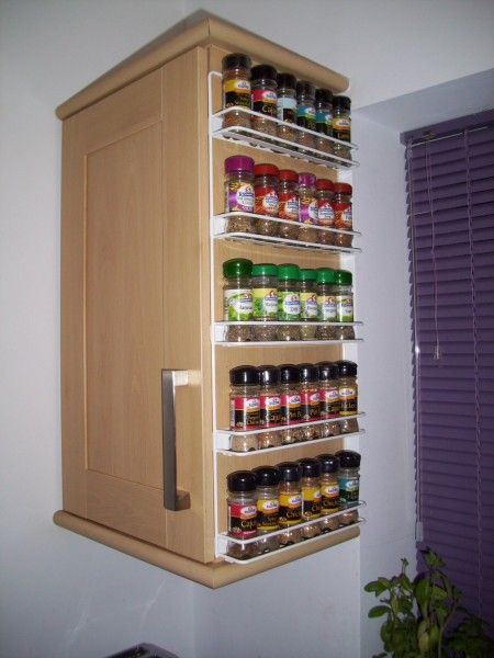 spice racks tiny kitchens and space saving on pinterest. Black Bedroom Furniture Sets. Home Design Ideas