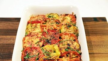Tomato, Zucchini, Onion and Parm Bake Recipe by Daphne Oz - The Chew