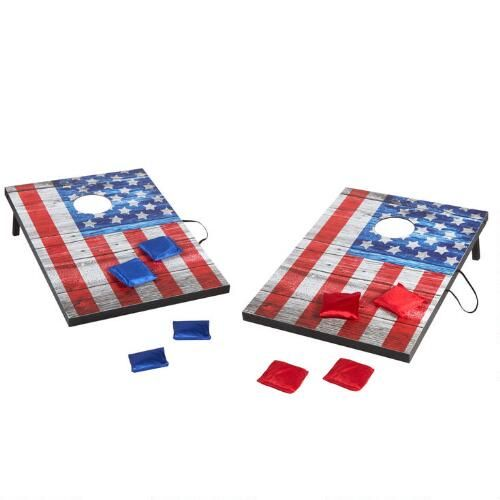 One Of My Favorite Discoveries At Christmastreeshops Com American Flag Bean Bag Toss Lawn Game Christmas Tree Shop Tree Shop Bean Bag Toss Game