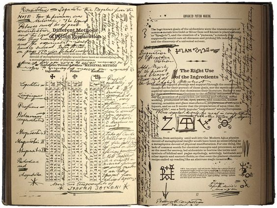 harry potter printables | Severus Snape's copy of Advanced Potion-Making - Harry Potter Wiki