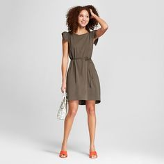 Image result for target a new day ruffle sleeve tie waist dress