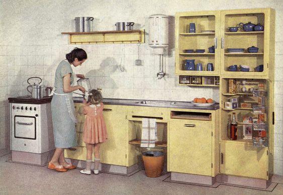 Piet Zwart Keuken Bruynzeel : De eerste Bruynzeel keuken ontworpen door Piet Zwart. keuken