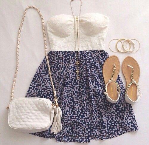 Conjunto blanco y azul