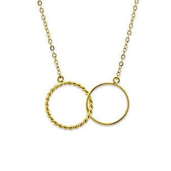 14k Yellow Gold Double Ring Necklace from Borsheims