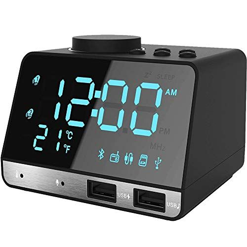 Thpoplete Clock Radio 4 2 Led Digital Alarm Clock With Dual Port Usb Charger Fm Radio Snooze Bluetooth Aux Tf Card Play Battery Backup Large Dimmable Led In 2020 Digital Alarm Clock,Floridays Resort Orlando 2 Bedroom Suite