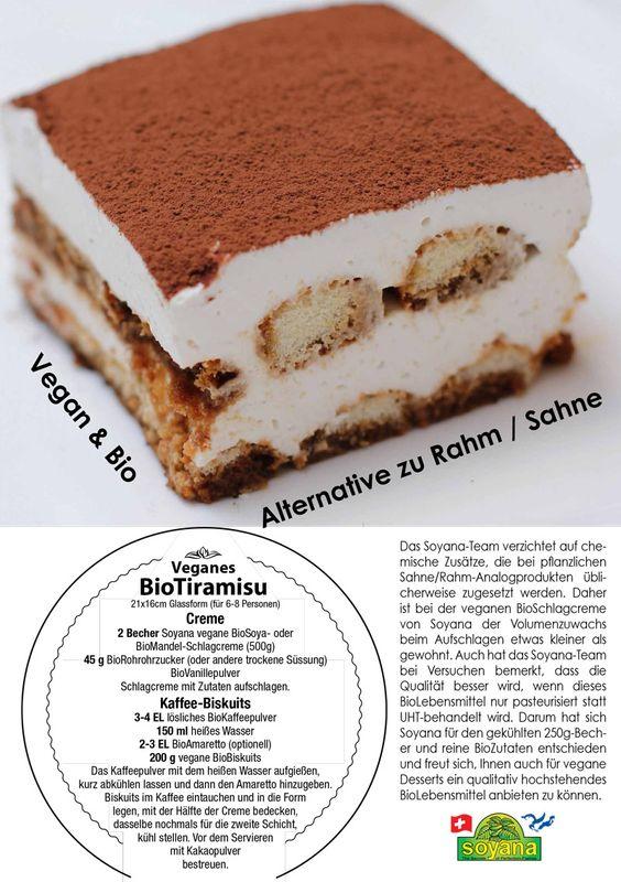 """Mandelyana-Tiramisu (mit """"Soyana"""" Mandel-Schlagcreme; Löffelbiskuits)"""