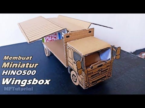 Cara Membuat Miniatur Truk Hino 500 Wings Box Dari Kardus Ide Kreatif Youtube Kardus Miniatur Kreatif