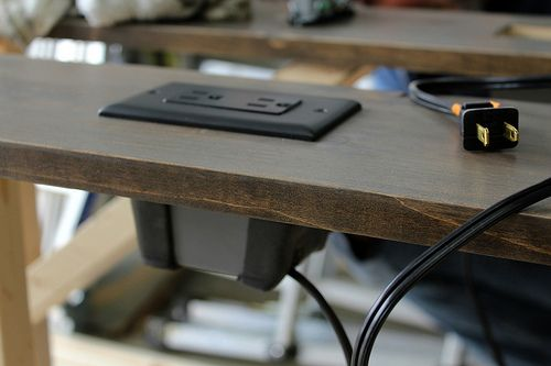How To Build An Electrical Outlet Into Your Nightstand, Kitchen Island, TV  Stand, Etc. What A Smart And Simple Idea. | DIY Projects | Pinterest |  Electrical ...