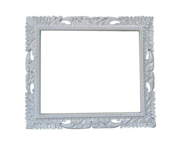 20x24 Shabby chic mirror frame rectangle white mid by Fancydecor