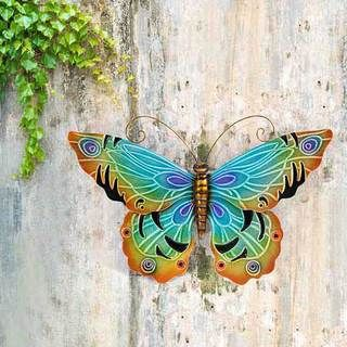 Soul of Wisdom Indoor Outdoor Patio Garden Purple Black Gold Rustic Handcrafted Decor Accent Butterfly Metal Wall Art (Mexico) | Overstock.com Shopping - The Best Deals on Wall Hangings