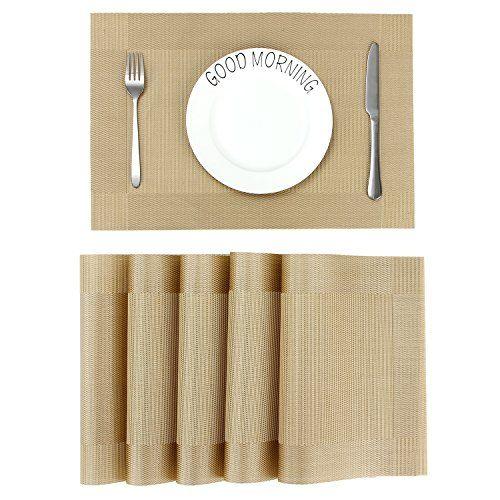 Lot De 6 Sets De Table Cuisine En Pvc Sets De Table Antiderapant
