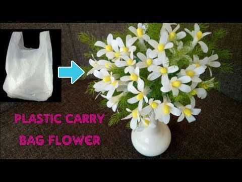 Plastic Carry Bag Flower Best Out Of Waste Diy Reuse Plastic Carry