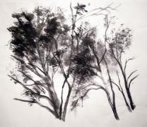 Tuschemalerei - Bäume 2