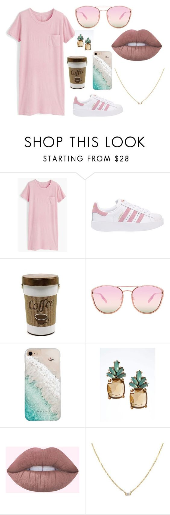"""Untitled #15"" by soninha97 on Polyvore featuring J.Crew, adidas Originals, Quay, Gray Malin and Banana Republic"